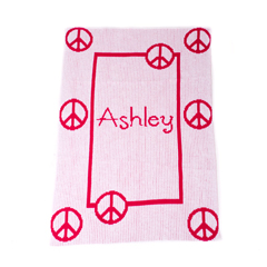 Floating Peace Sign Personalized Kids Blanket