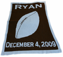Football Blanket Personalized with Name and Birthdate