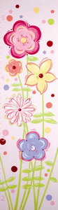 Fun Flowers Kids Growth Chart