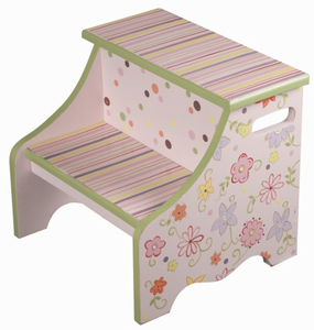 Funky Flowers Kids Steps Stool