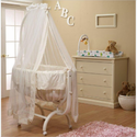 Gabriella Cradle in French White