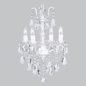 Glass Centered White Chandelier