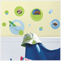 Green and Blue Dot Wall Pocket Wall Decals for Kids