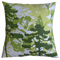 Habitat Moss and Lime Printed  Pillow, 20x20