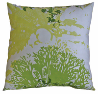 Habitat Moss and Lime Printed Pillow 26x26