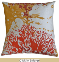 Habitat Rust and Gold Printed Pillow, 18x18