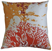 Habitat Rust and Gold Printed Pillow 26 x 26