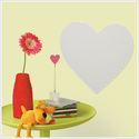 Heart Peel and Stick Mirror Wall Decal