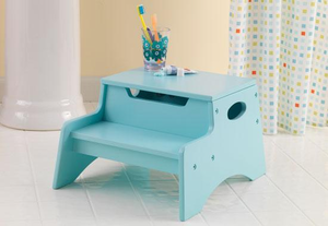 Ice Blue Kids Step 'N Store Stool