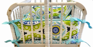 Indigo Summer Cradle Bedding