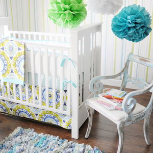 Indigo Summer Crib Bedding