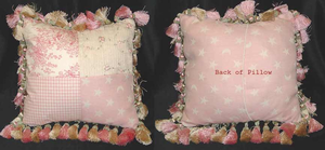 Isabella Patch and Tassels Pillow