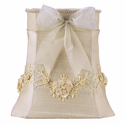 Ivory Floral Bouquet Medium Lamp Shade