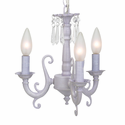 Jubilee Collection Lavender 3 Arm Scroll Chandelier