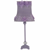 Jubilee Collection Lavender Floral Bouquet Bedroom Lamp