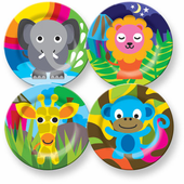 Jungle Friends 4 Piece Kids Plate Sets