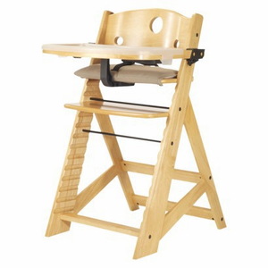 Keekaroo Height Right Wooden High Chair, Tray & Tray Cover