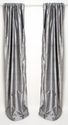 Kirby Grey Silk Drapes, pair