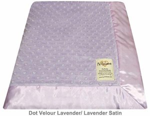 Lavender Dot Velour Baby Blanket by My Blankee