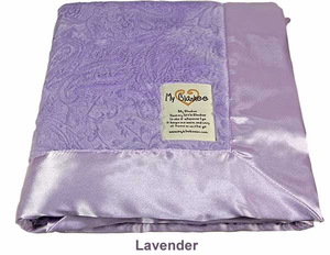 Lavender Embossed Paisley Security Blanket