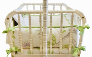 Lavender Fields 2 Piece Custom Cradle Bedding Set