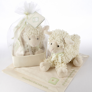 �Love Ewe� Plush Lamb and Lovie Gift Set