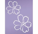 Lulu White Wall Decals, Set of 2