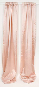 Madison Solid Pink Window Drapery Panels, Pair