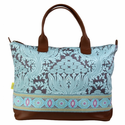 Marni Duffel Bag with Ribbon in Cloud Vine Lake