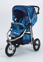 Metamorphosis Painted Lady Blue Jog Stroller