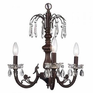 Mocha 3 Arm Waterfall Chandelier