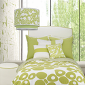 Modern Berries in Spring Green Kids Duvet