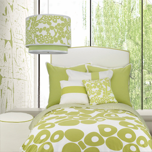 Modern Berries in Spring Green Kids Euro Sham