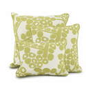 Modern Berries in Spring Green Pillows by Oilo 13 x 17