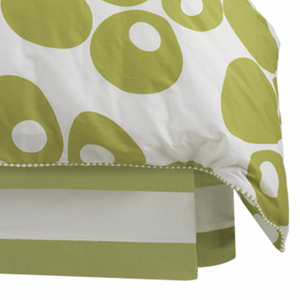 Modern Berries in Spring Green Twin Bed Skirt