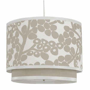 Modern Berries in Taupe Double Cylinder Pendant Light