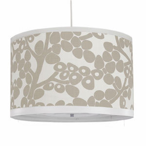 Modern Berries Large Taupe Cylinder Pendant Light