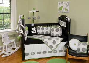Moderno 3 Piece Crib Bedding Set by Bebe Chic