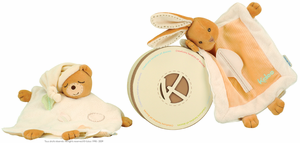 Natural Stuffed Bear with Leaf Motif by Kaloo