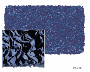 Navy Blue Shaggy Raggy Rug