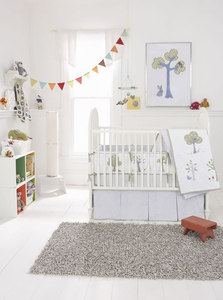Nightowl 3 Piece Baby Crib Bedding by Whistle and Wink