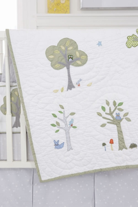 Nightowl Crib Quilt by Whistle and Wink