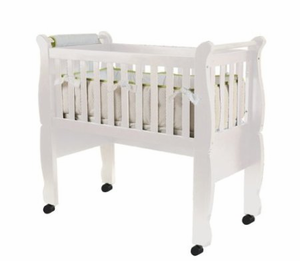 Now and Forever Convertible Cradle in White by Green Frog