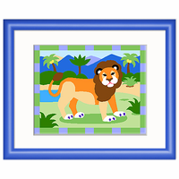 Olive Kids Lion Framed Art