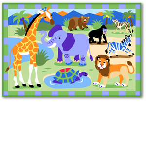 Olive Kids Wild Animals Printed Bedroom Rug