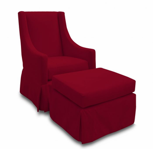 Original Luxe Nursery Glider Rocking Chair in Red by Jennifer DeLonge