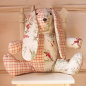 Over the Moon Plush Stuffed Sage Toile Bunny