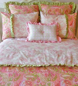 Paisley Sherbert Girls 3 Piece  Bedding Set