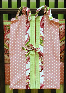 Paisley Splash in Pink Diaper Stacker