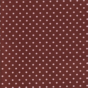 Petite Pink and Chocolate Dots Fabric by the Yard